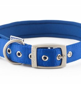 Ancol Heritage Nylon Padded Dog Collar, Blue