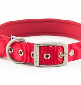 Ancol Heritage Nylon Padded Dog Collar, Red