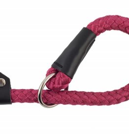 Ancol Heritage Nylon Rope Slip Dog Lead Raspberry  1.2m x 20mm
