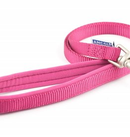 Ancol Heritage Padded Nylon Dog Lead Raspberry