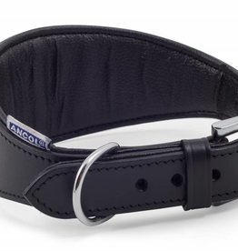 Ancol Heritage Padded Whippet & Greyhound Dog Collar 35cm Black