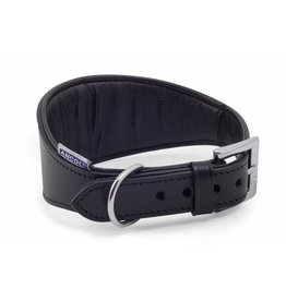 Ancol Heritage Padded Whippet & Greyhound Dog Collar 47cm Black