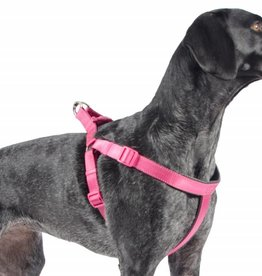 Ancol Heritage Reflective Padded Nylon Dog Harness, Raspberry
