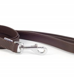 Ancol Heritage Vintage Padded Leather Dog Lead 22mm x 1m, Chestnut