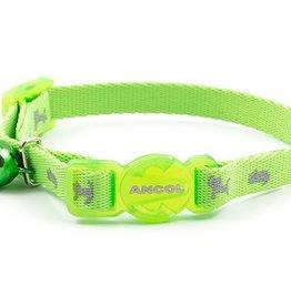 Ancol Hi-Vis Safety Kitten Collar Green