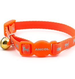 Ancol Hi-Vis Safety Kitten Collar Orange