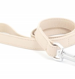 Ancol Indulgence Folded Leather Dog Lead Soft Truffle 100cm x 19mm