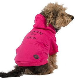 Ancol Pink Anything For Kisses Dog Hoodie