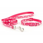 Ancol Small Bite Heart Collar & Lead Set, Raspberry