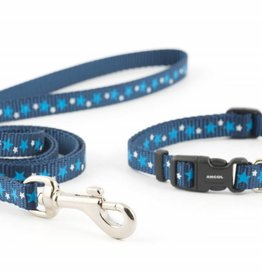 Ancol Small Bite Stars Collar & Lead Set For Puppies & Small Dogs, Blue