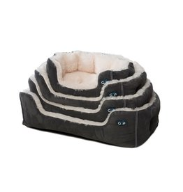 Gor Pets Nordic Snuggle Dog Bed Grey