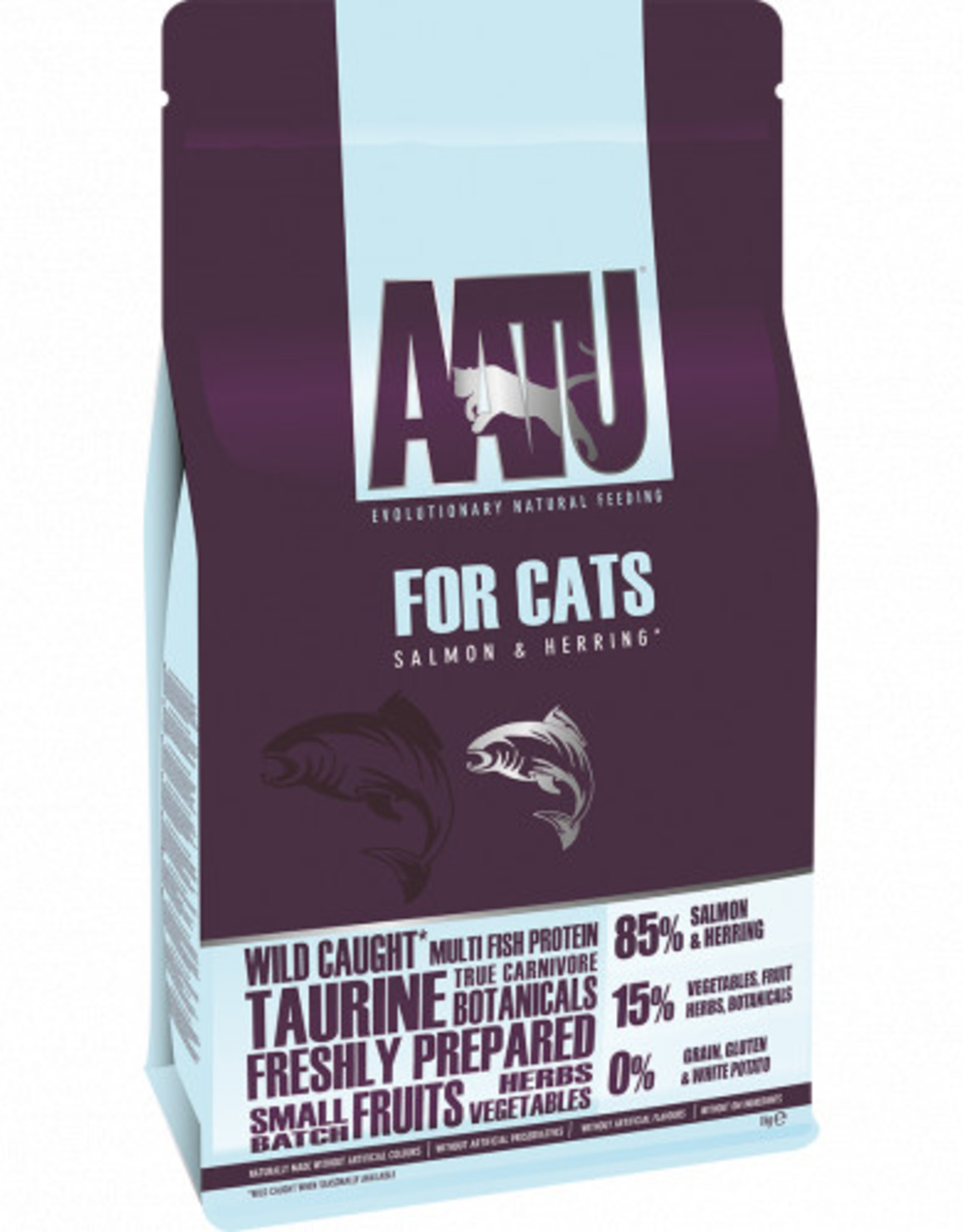 AATU 85/15 Adult Cat Dry Food, Salmon and Herring