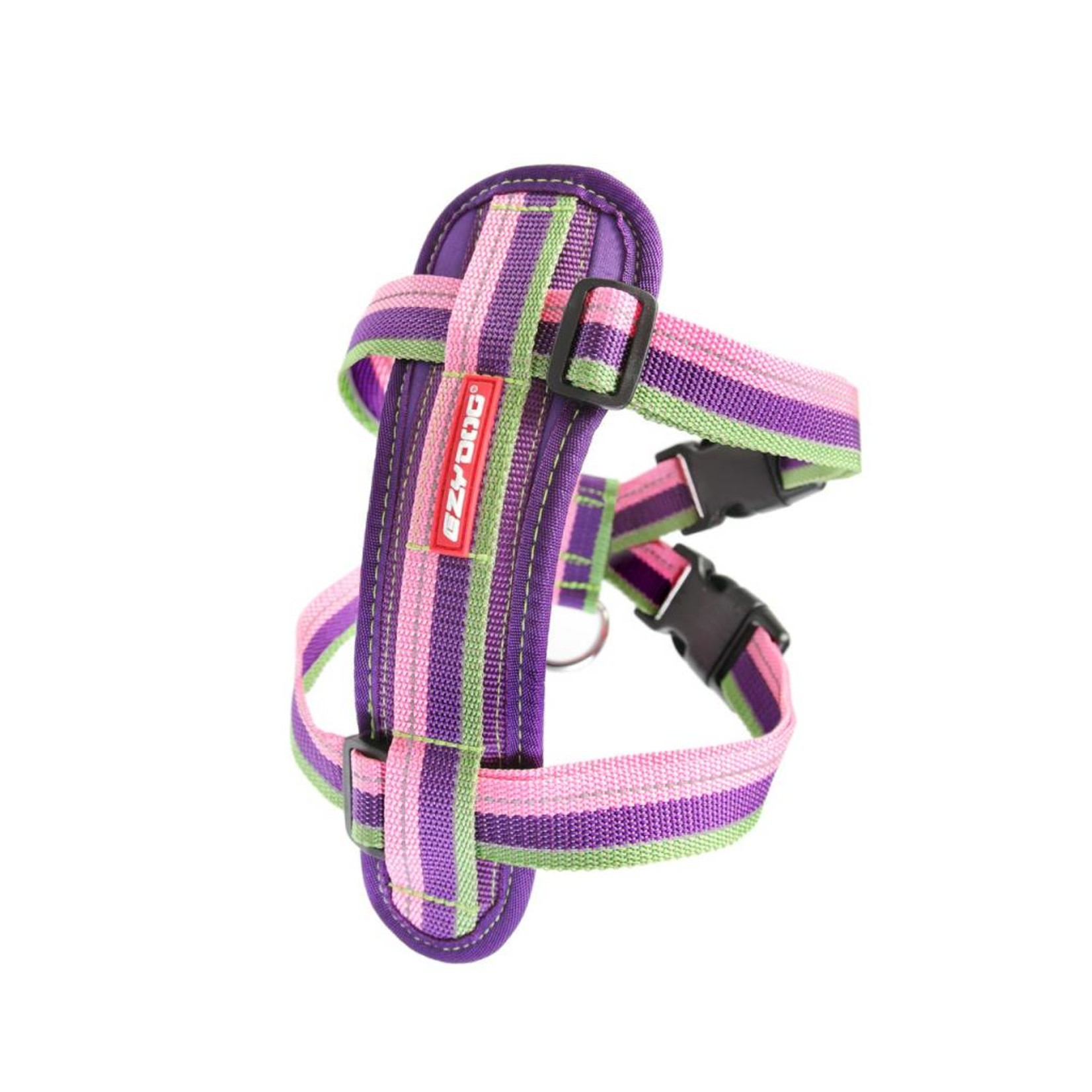 EzyDog Chest Plate Dog Harness with Seat Belt Loop, Bubble Gum
