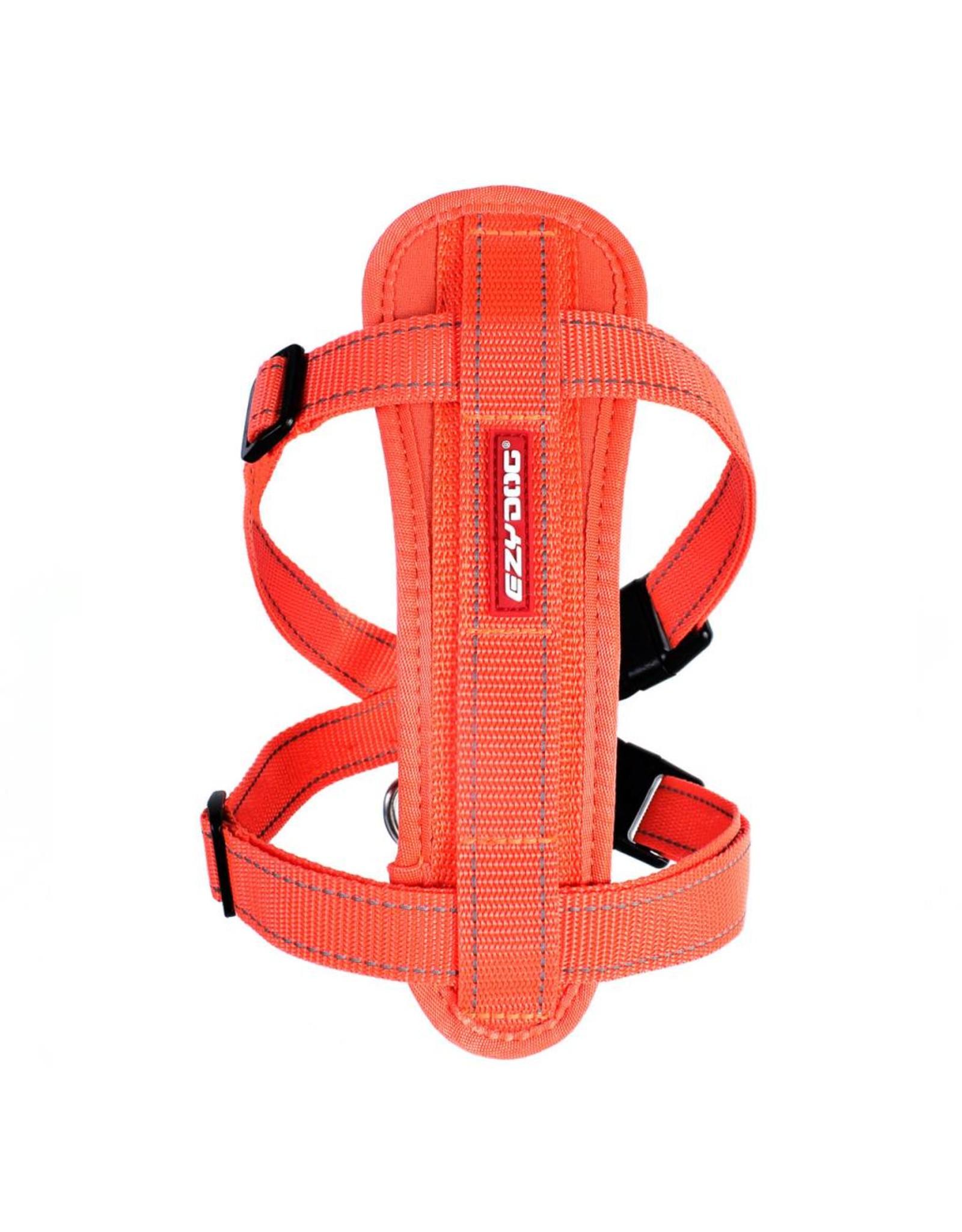 EzyDog Chest Plate Dog Harness with Seat Belt Loop, Burnt Orange