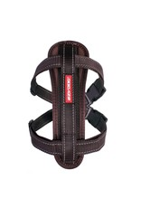 EzyDog Chest Plate Dog Harness with Seat Belt Loop, Chocolate