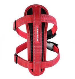 EzyDog Chest Plate Dog Harness with Seat Belt Loop, Red