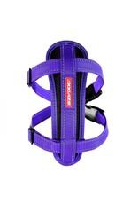 EzyDog Chest Plate Dog Harness with Seat Belt Loop, Purple