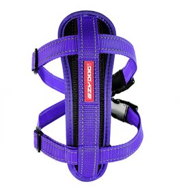 EzyDog Chest Plate Dog Harness with Seat Belt Loop, Purple
