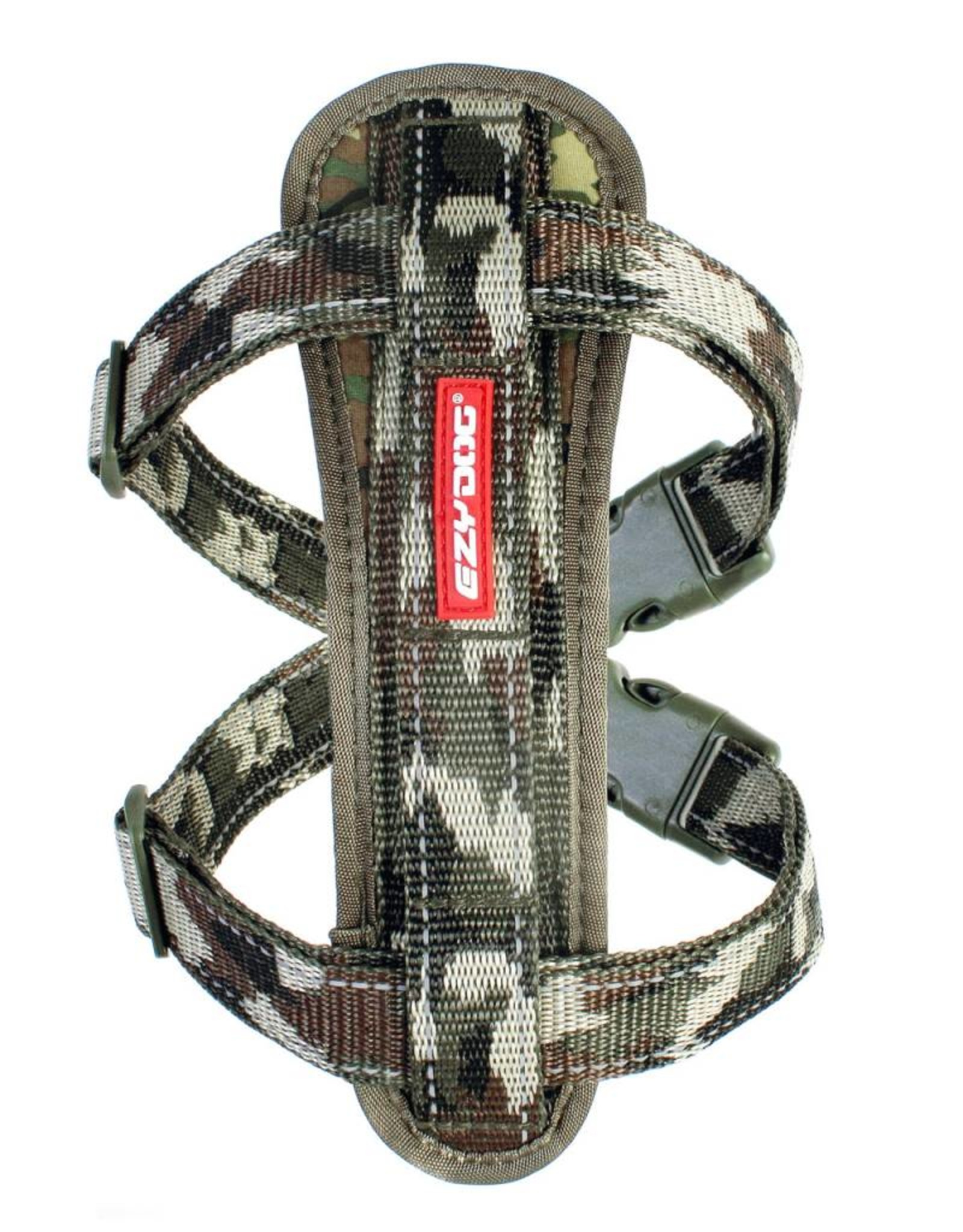 EzyDog Chest Plate Dog Harness with Seat Belt Loop, Green Camouflage