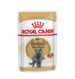 Royal Canin British Shorthair Adult Cat Wet Food Pouch in Gravy, 85g