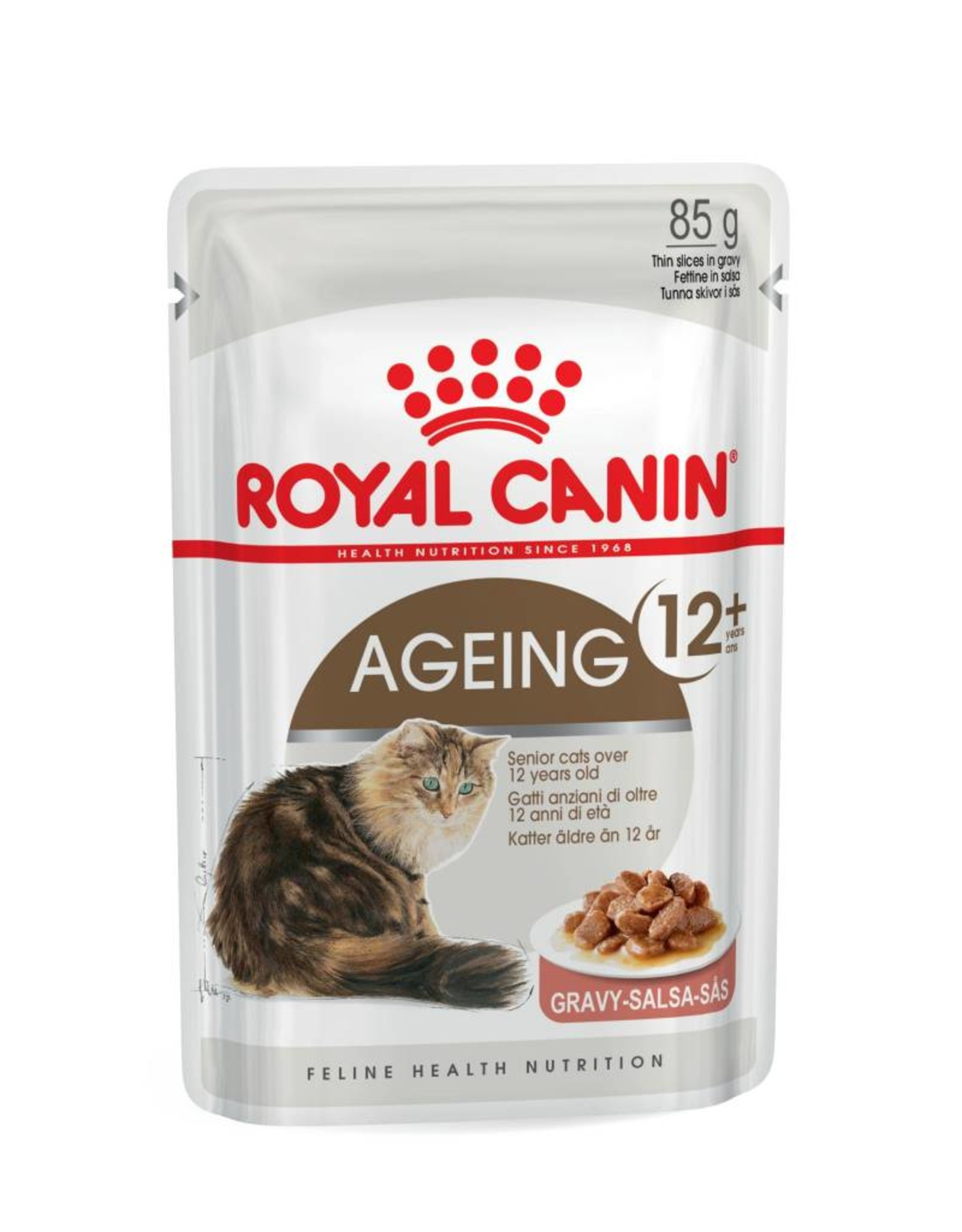 Royal Canin Ageing 12+ Senior Cat Wet Food Pouch with Gravy, 85g