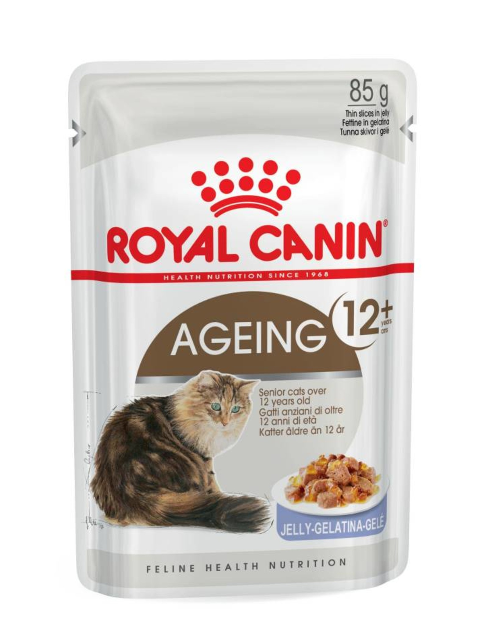 Royal Canin Ageing 12+ Senior Cat Wet Food Pouch with Jelly, 85g