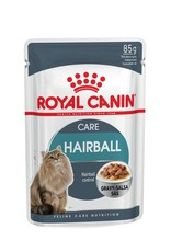 Royal Canin Hairball Care Adult Cat Wet Food Pouch with Gravy, 85g