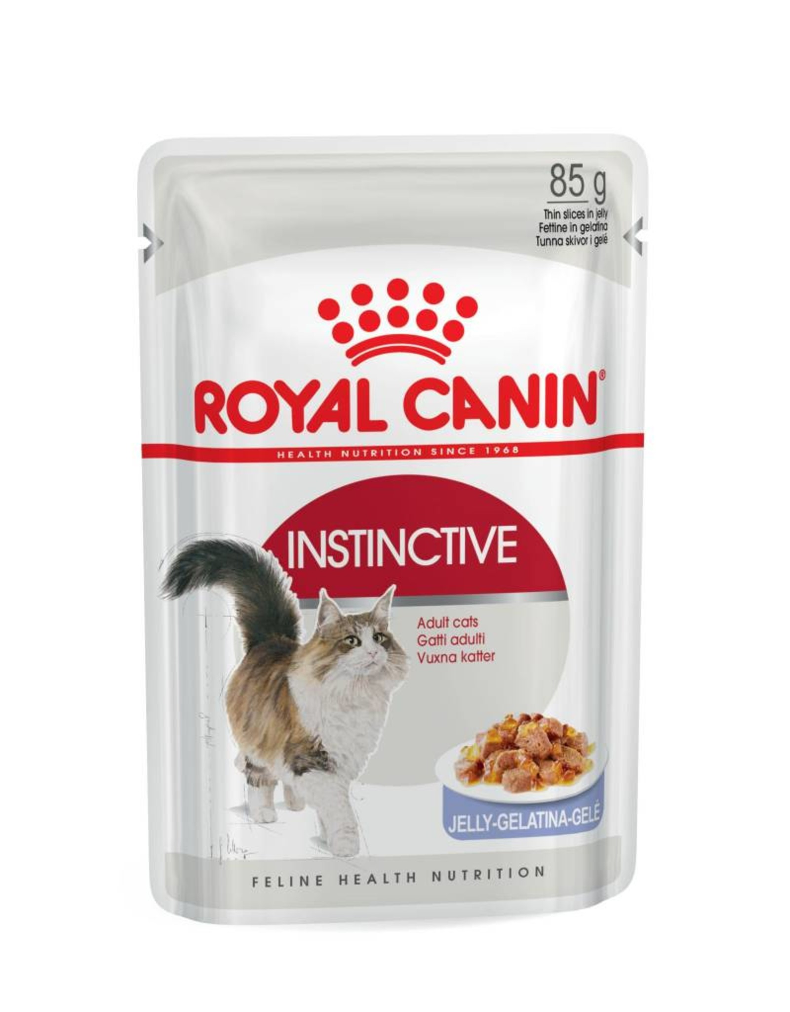 Royal Canin Instinctive Adult Cat Wet Food Pouch with Jelly, 85g