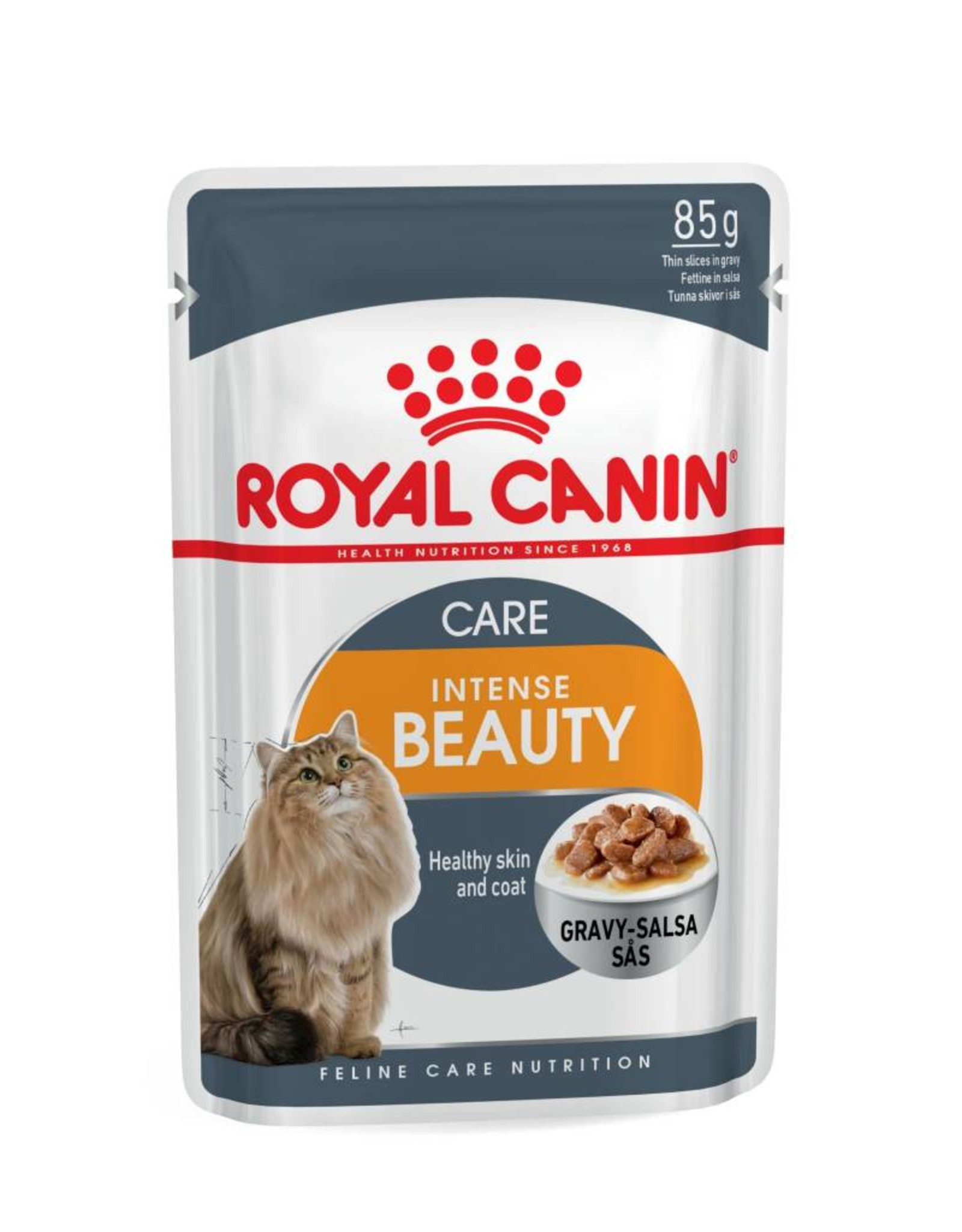 Royal Canin Intense Beauty Adult Cat Wet Food Pouch with Gravy, 85g