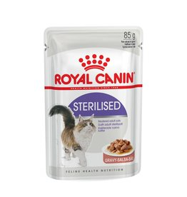 Royal Canin Sterilised Adult Cat Wet Food Pouch in Gravy, 85g