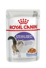 Royal Canin Sterilised Adult Cat Wet Food Pouch in Jelly, 85g