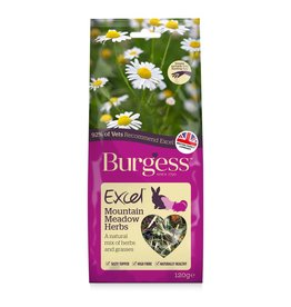 Burgess Excel Mountain Meadow Herbs for Small Animals, 120g