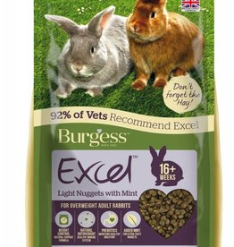 Burgess Excel Rabbit Light Nugget with Mint Food, 2kg