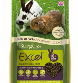 Burgess Excel Rabbit Adult Nugget Food with Mint