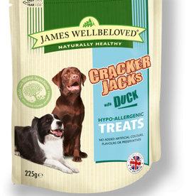 James Wellbeloved Dog Crackerjacks Treats, Duck 225g
