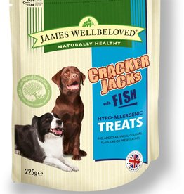 James Wellbeloved Dog Crackerjacks, White Fish 225g
