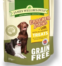 James Wellbeloved Dog Grain Free Crackerjacks Lamb 225g