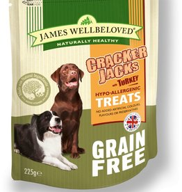 James Wellbeloved Dog Crackerjacks Grain Free Turkey 225g