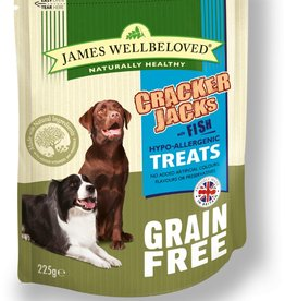 James Wellbeloved Dog Grain Free Crackerjacks with Fish 225g