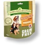 James Wellbeloved Grain Free MiniJacks Hypo-Allergenic Dog Treats, Turkey, 90g