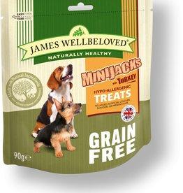 James Wellbeloved Dog MiniJacks Grain Free Treats, Turkey 90g