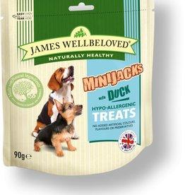 James Wellbeloved Dog MiniJacks Treats, Duck 90g