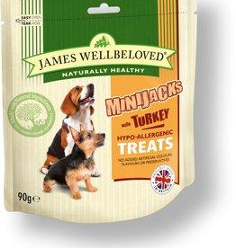 James Wellbeloved Dog MiniJacks Treats, Turkey 90g