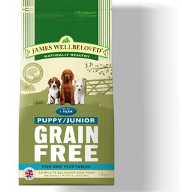 James Wellbeloved Grain Free Puppy Junior Dog Dry Food, Fish & Vegetable 1.5kg