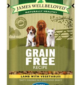James Wellbeloved Puppy Grain Free Wet Food Pouch Lamb 100g