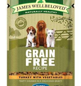 James Wellbeloved Puppy Grain Free Wet Food Pouch Turkey 100g