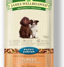 James Wellbeloved Puppy Junior Wet Food Pouch Turkey & Rice 150g