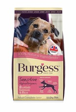 Burgess Sensitive Adult Dog Food, Scottish Salmon & Rice 12.5kg x 2