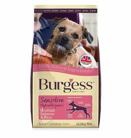 Burgess Sensitive Adult Dog Food, Scottish Salmon & Rice 12.5kg x 2