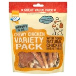 Good Boy Pawsley & Co Chewy Chicken Variety Pack Dog Treats, 320g